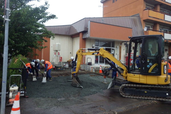 南地区住民センター駐車場の舗装補修 感謝状