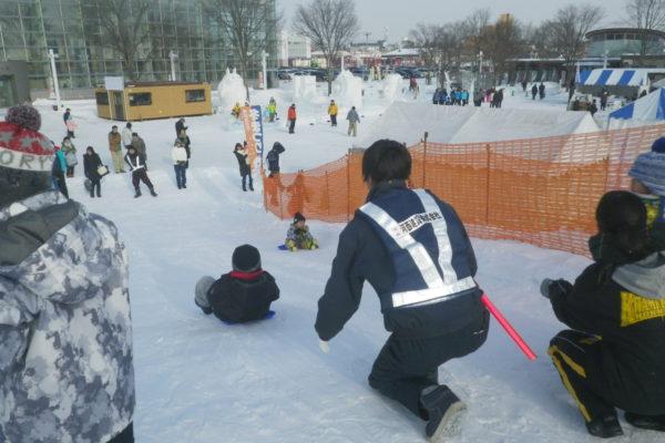 第48回北見冬祭り 会場警備(雪山の滑り台)お礼状