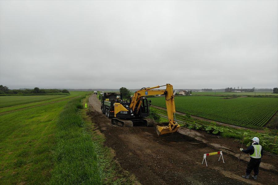 施工中 掘削(ICT)