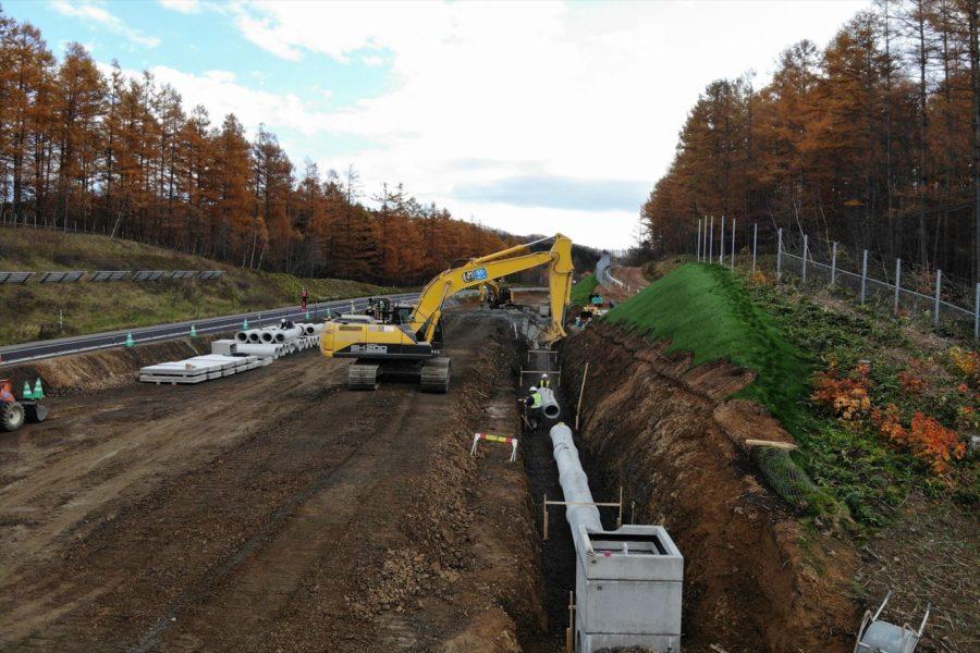 施工中 排水構造物工