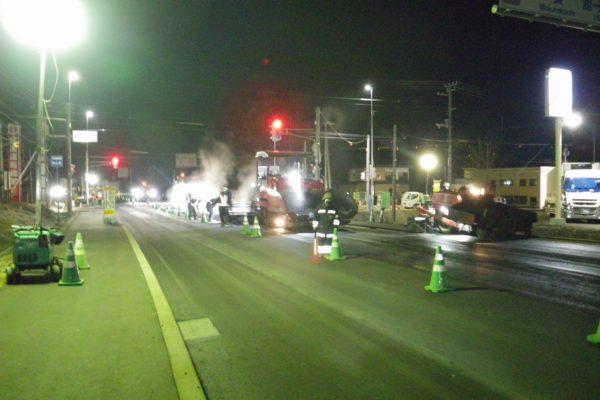 一般国道242号  遠軽町  豊里交差点舗装工事