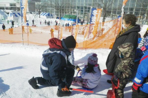 第47回北見冬祭り 会場警備(雪山の滑り台)お礼状