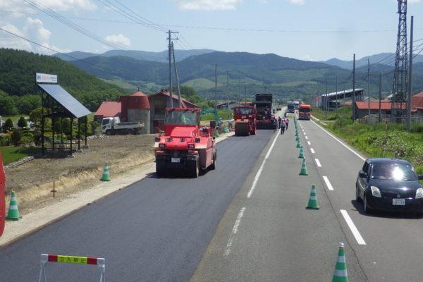 一般国道333号 佐呂間町 大成舗装外一連工事